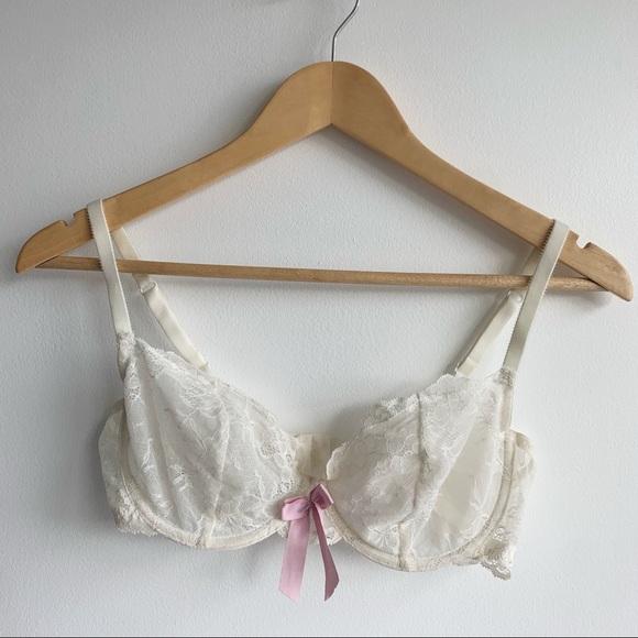 La Senza Cream Lace Bra 34D